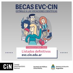 Estudiantes de Humanidades fueron seleccionados en las Becas EVC–CIN