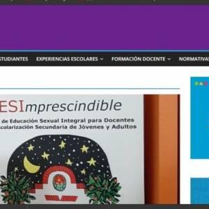 Micrositio PESIE: la educación sexual integral como política institucional de la FHAyCS