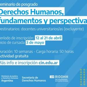 Seminario de posgrado «Derechos Humanos: fundamentos y perspectivas»