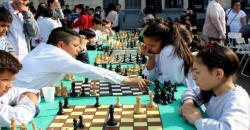 Estudiantes de la Escuela Normal en el «Encuentro de Ajedrez Educativo»